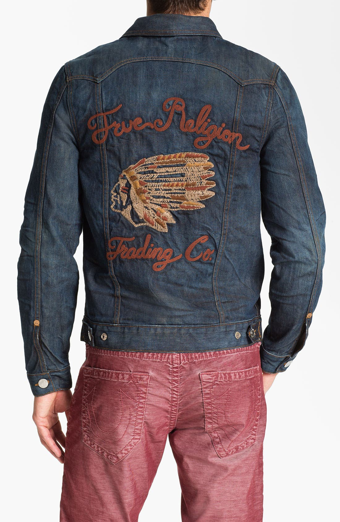 Alternate Image 2  - True Religion Brand Jeans '1971 Jimmy Western Trucker' Denim Jacket