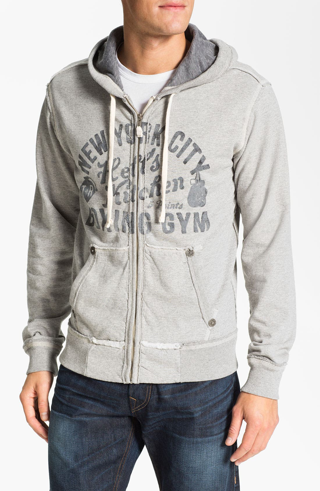 Alternate Image 1 Selected - True Religion Brand Jeans 'Hell's Kitchen' Graphic Zip Hoodie