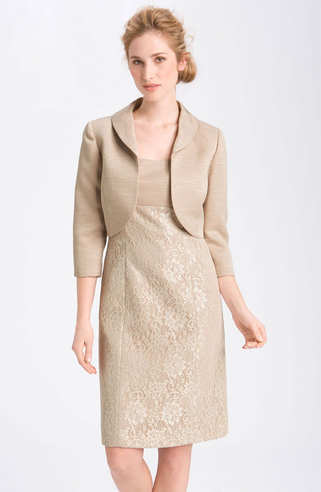 Alternate Image 1 Selected - Tahari Lace Sheath Dress & Jacket