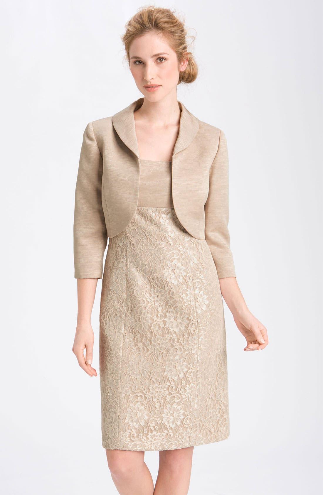 Main Image - Tahari Lace Sheath Dress & Jacket