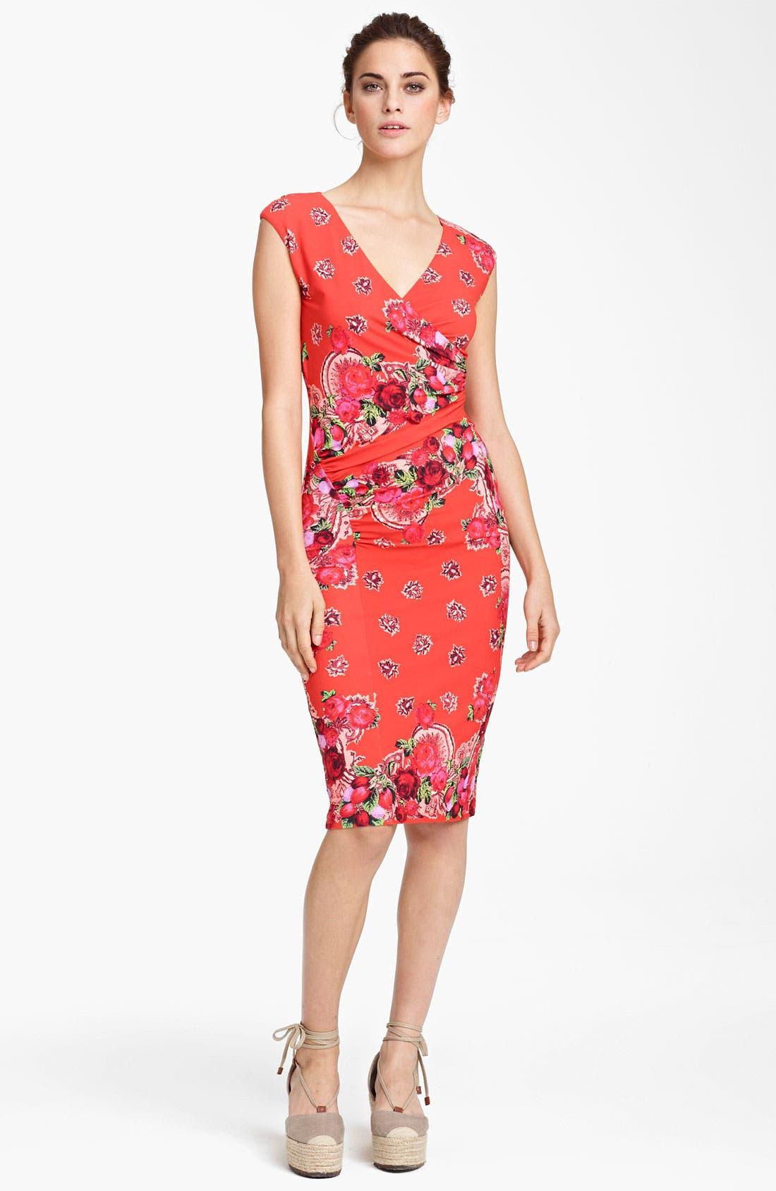 Alternate Image 1 Selected - Jean Paul Gaultier Fuzzi Fitted Jersey Dress