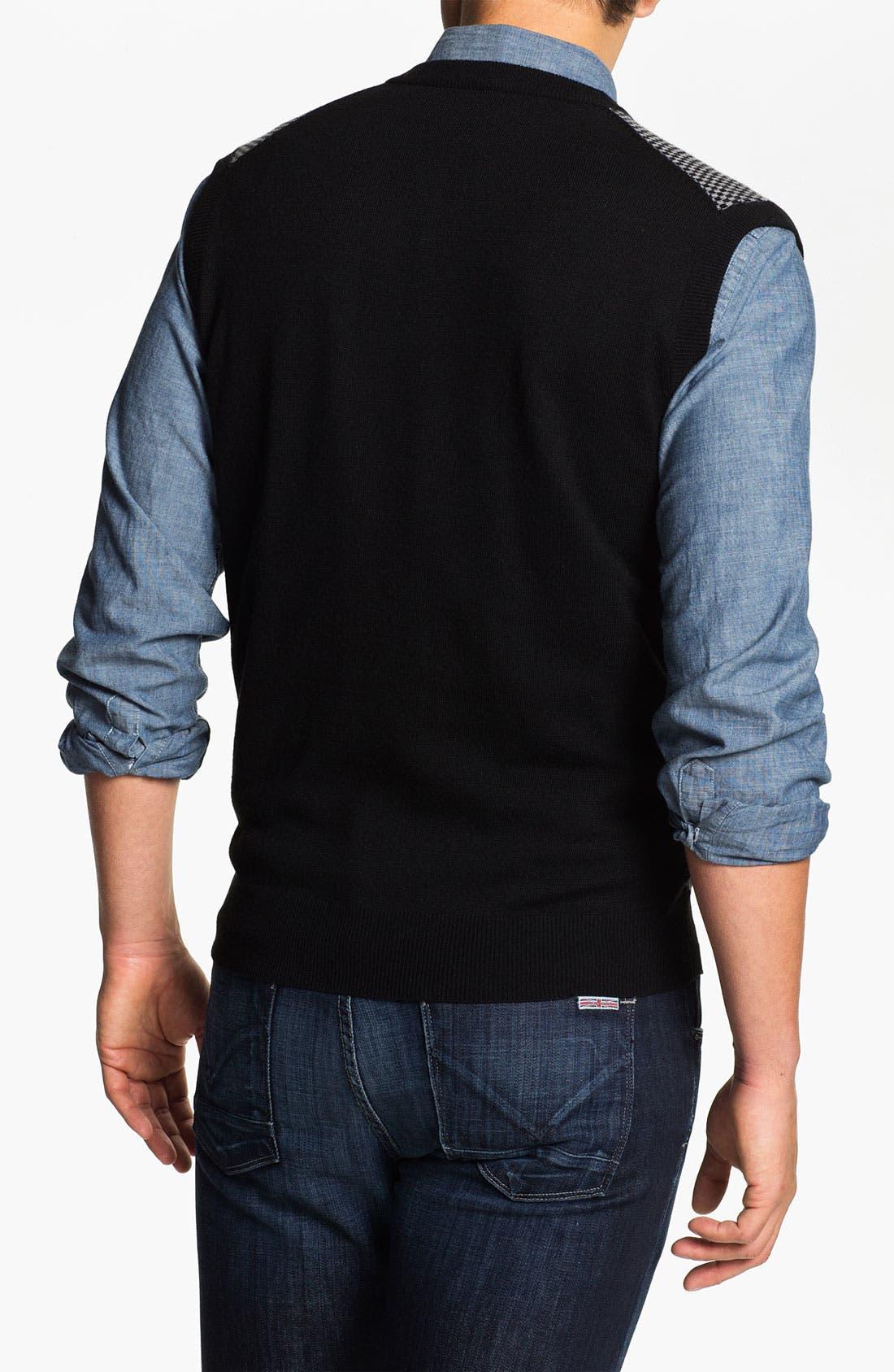 Alternate Image 2  - Toscano Merino Wool Blend Sweater Vest