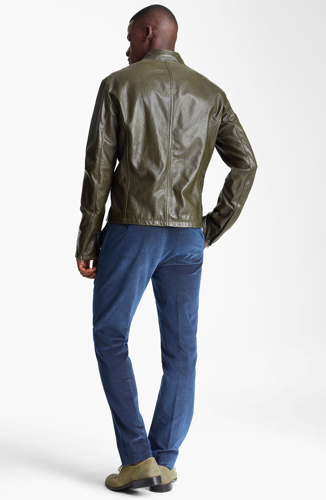 Alternate Image 5  - Etro Leather Moto Jacket