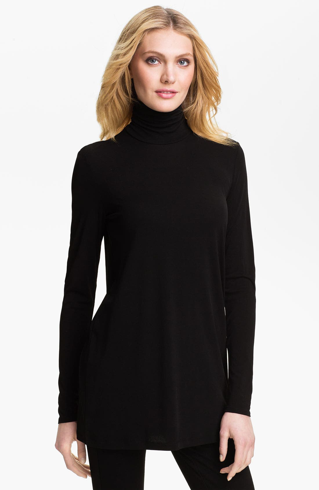 Main Image - Eileen Fisher Long Turtleneck Top (Online Exclusive)