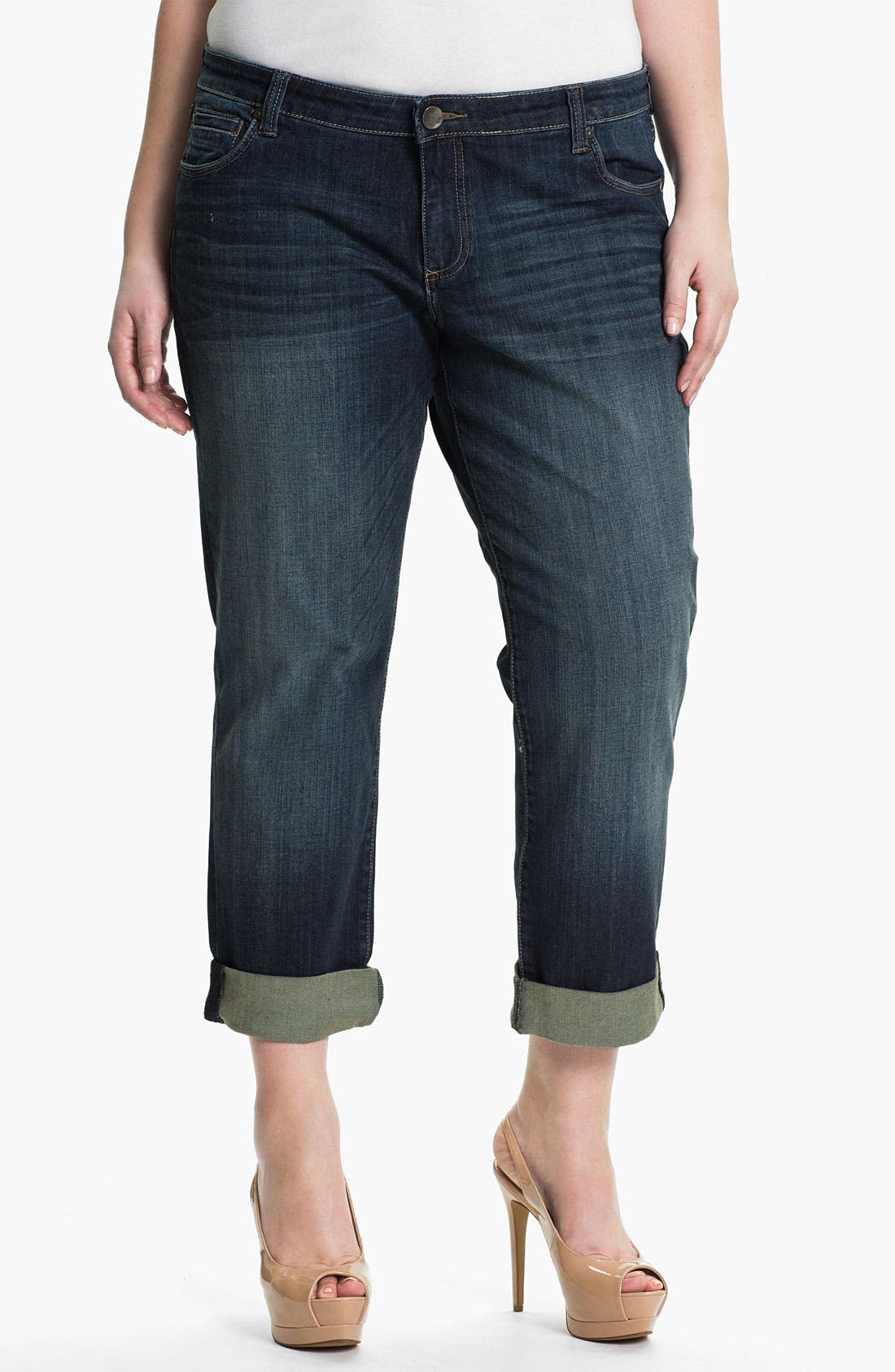 Main Image - KUT from the Kloth 'Catherine' Slim Boyfriend Jeans (Plus Size)