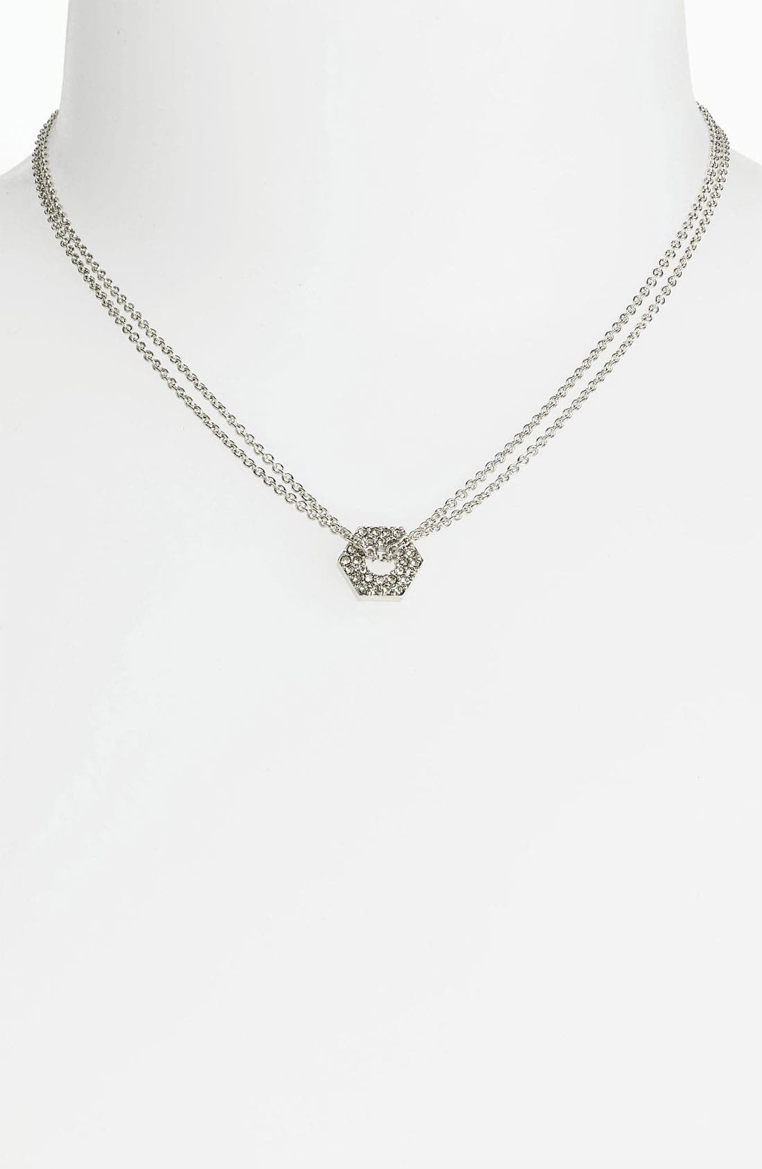 Alternate Image 1 Selected - MARC BY MARC JACOBS 'Bolts' Pavé Pendant Necklace