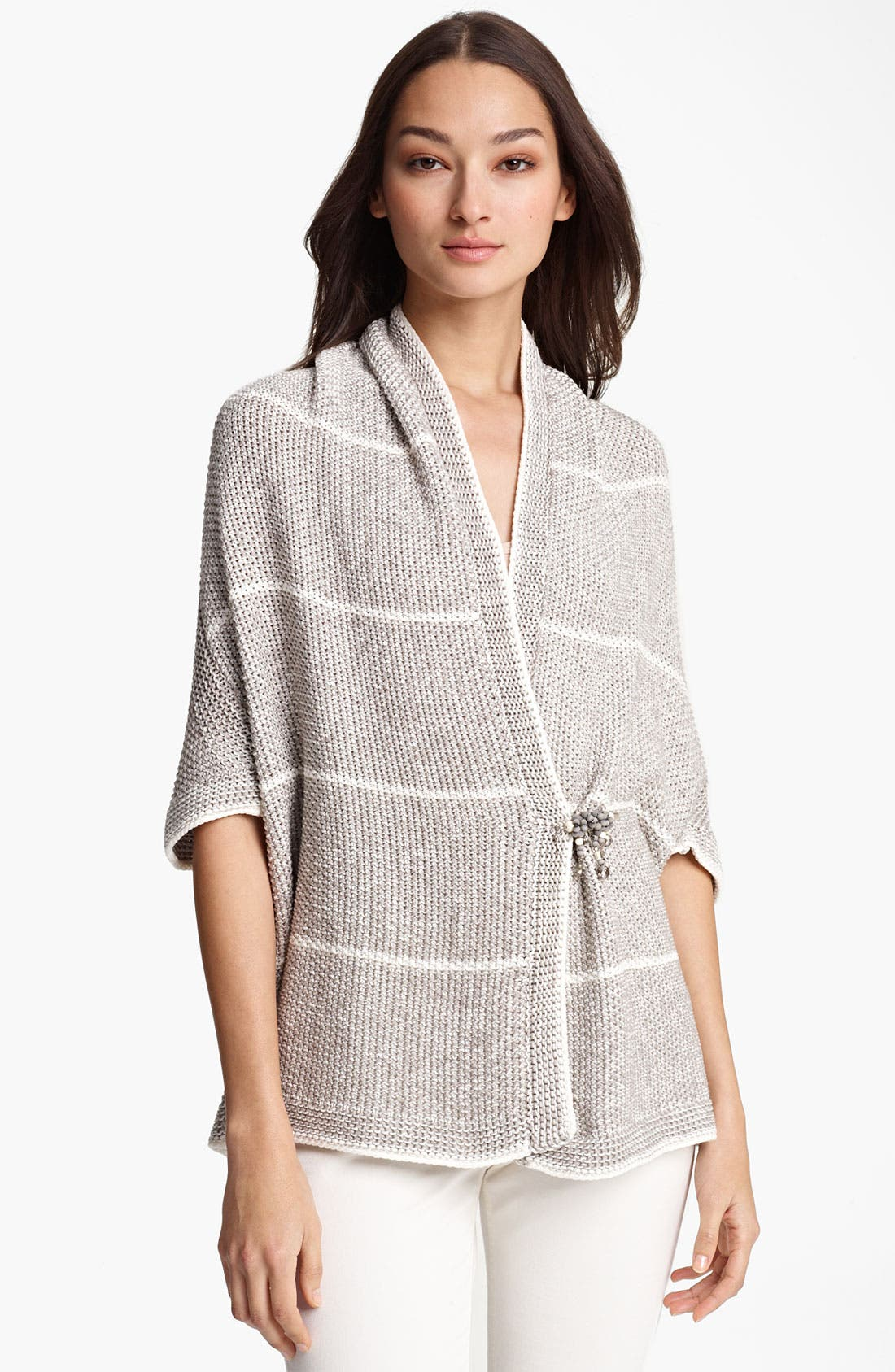 Alternate Image 1 Selected - Fabiana Filippi Stripe Crochet Cardigan