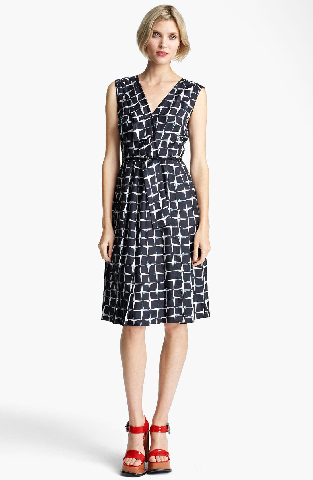 Main Image - MARC JACOBS Diamond Print Silk Twill Dress