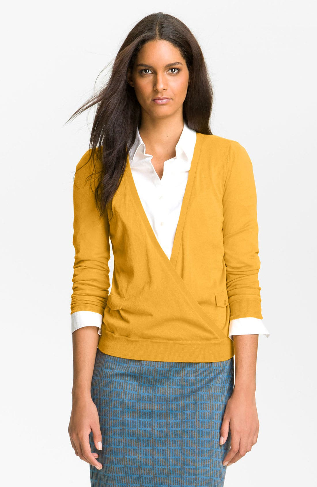 Alternate Image 1 Selected - Halogen® Faux Wrap Sweater
