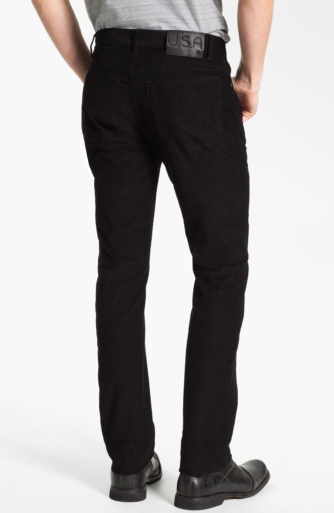 Alternate Image 2  - John Varvatos Star USA 'Bowery' Slim Straight Leg Corduroy Pants