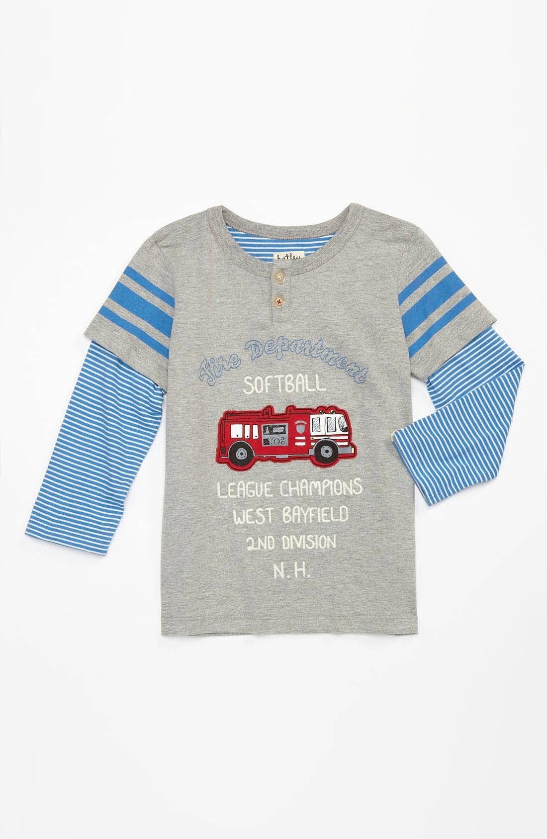 Alternate Image 1 Selected - Hatley 'Fire Department Softball' T-Shirt (Toddler)