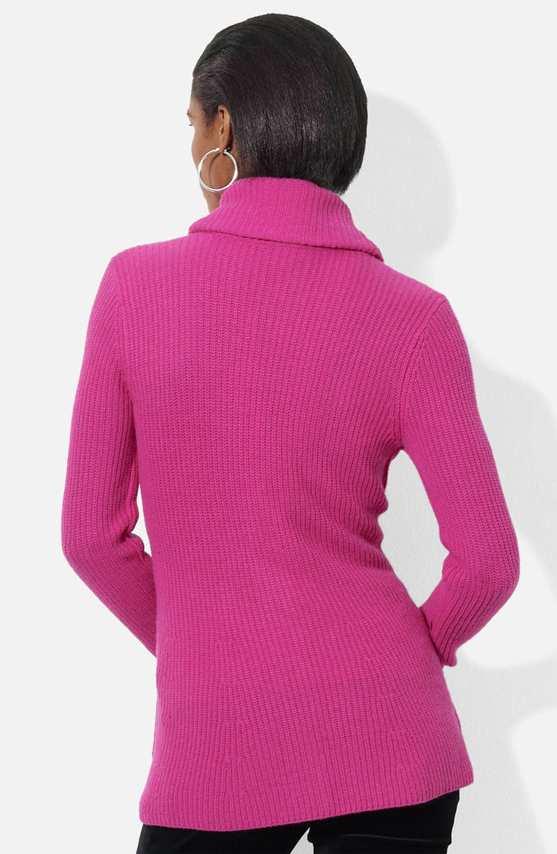Alternate Image 2  - Lauren Ralph Lauren Shawl Collar Peplum Cardigan (Petite) (Online Exclusive)