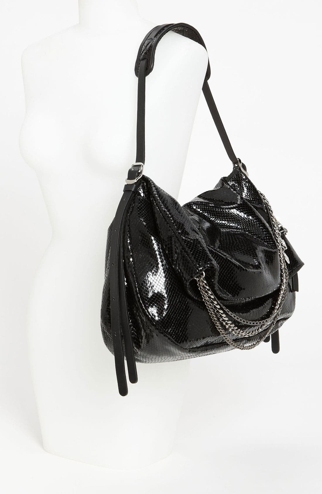 Alternate Image 2  - Jimmy Choo 'Biker' Snake Embossed Leather Shoulder Bag