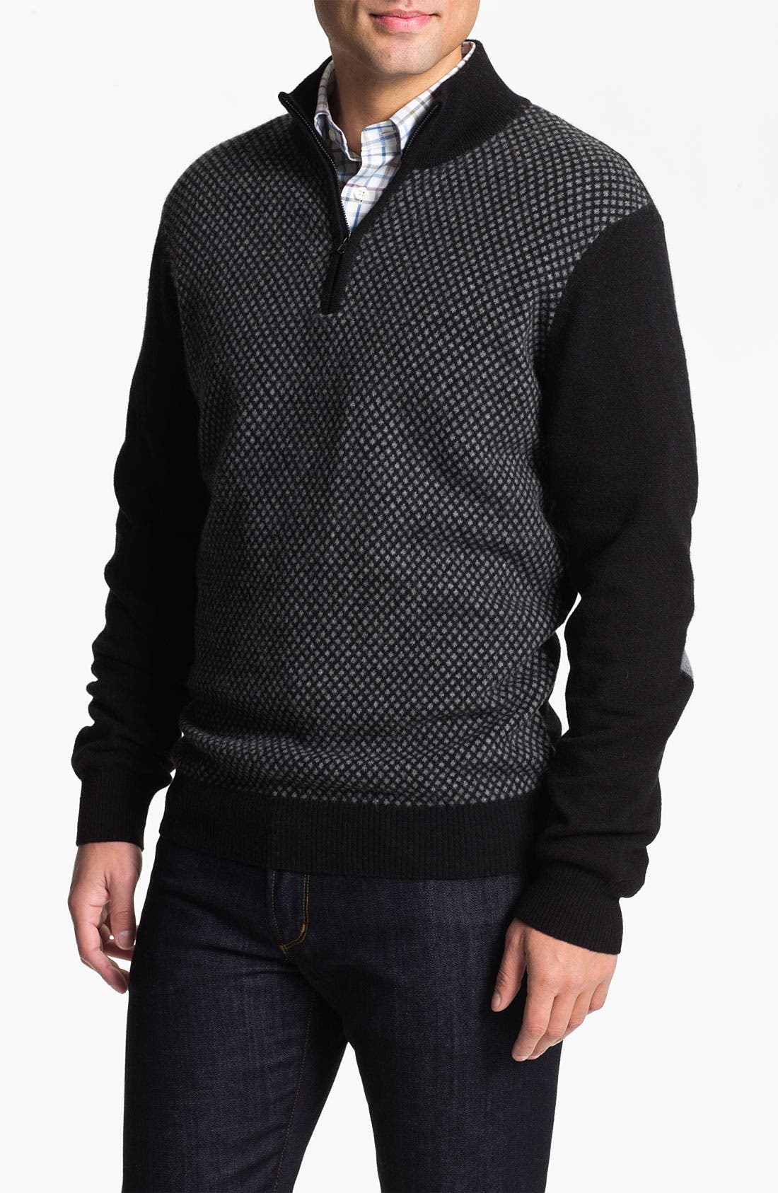 Alternate Image 1 Selected - Franco Danti Wool Half Zip Sweater
