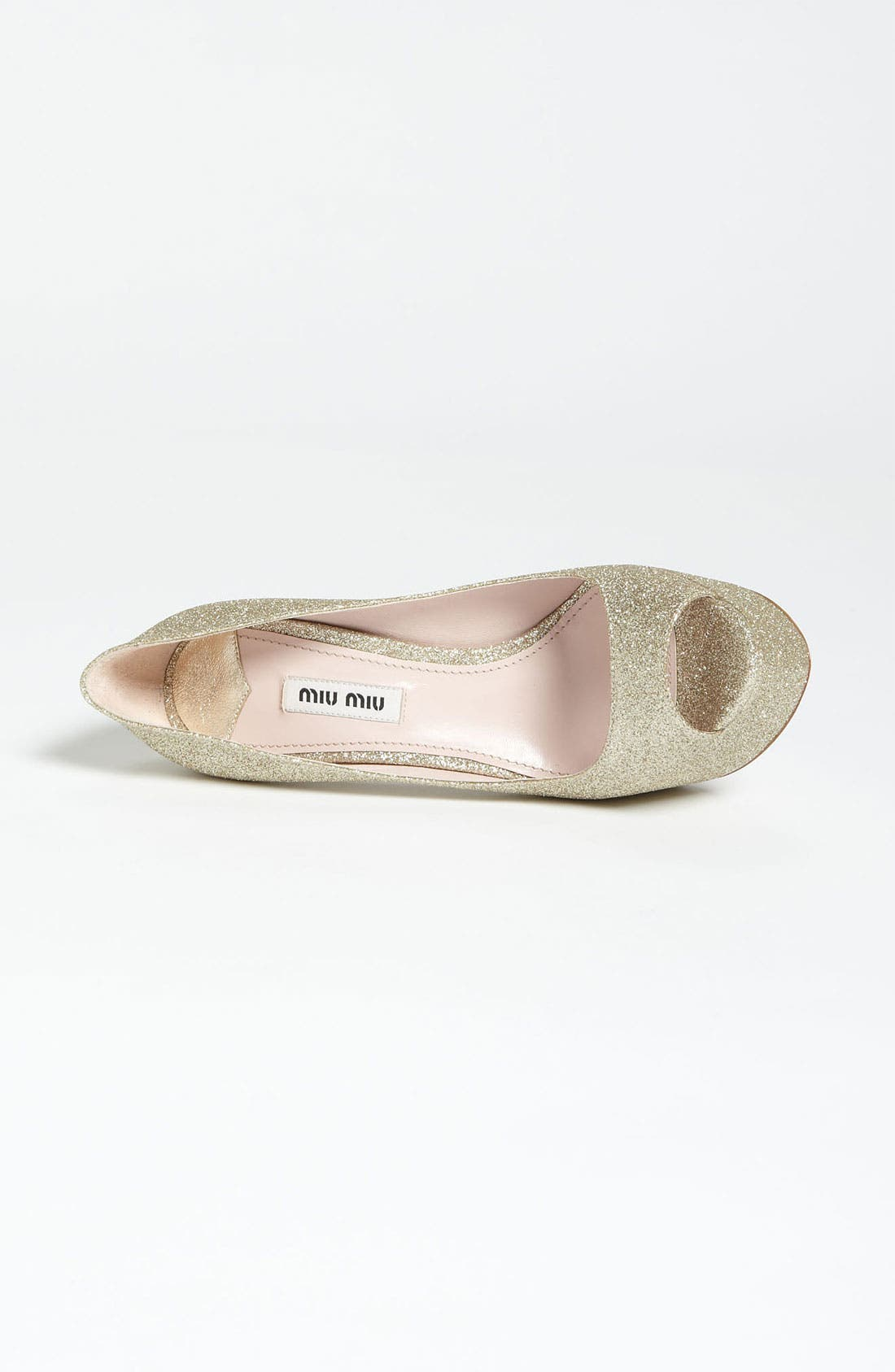 Alternate Image 3  - Miu Miu Glitter Peep Toe Pump