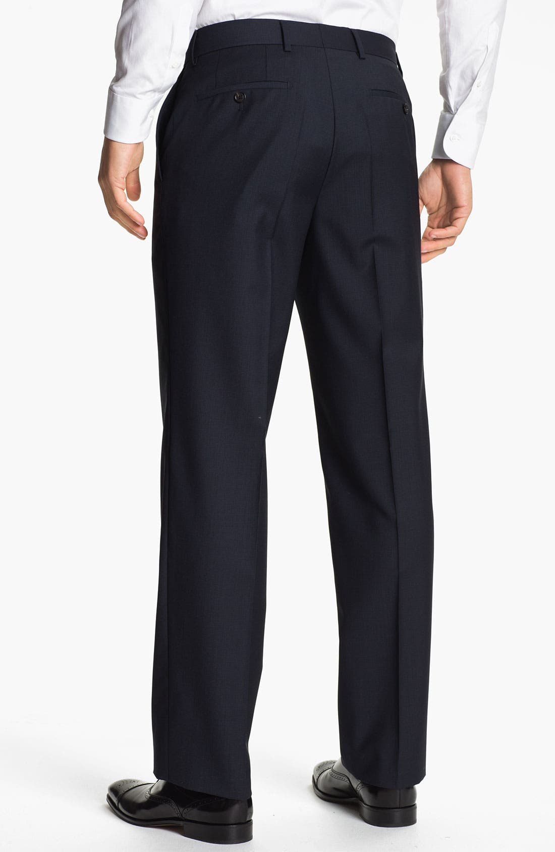 Alternate Image 2  - BOSS Black 'James' Flat Front Trousers