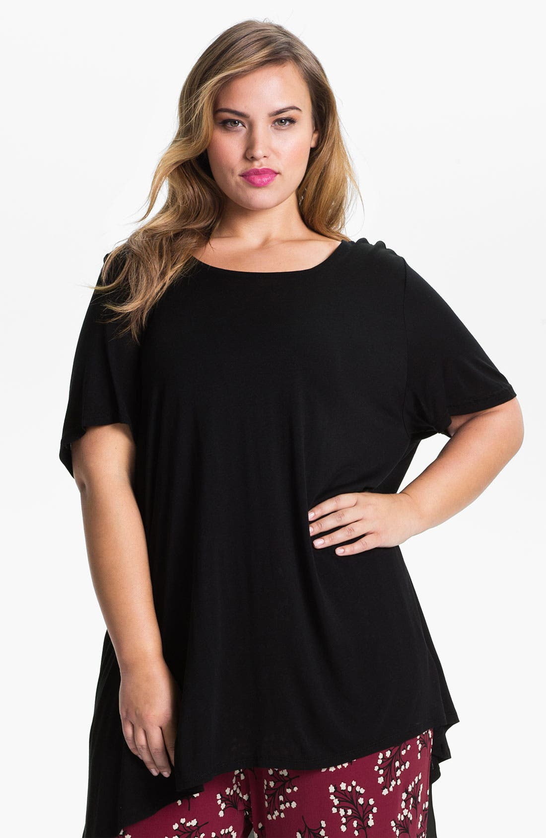 Alternate Image 1 Selected - Evans 'Fishtail' Top (Plus Size)