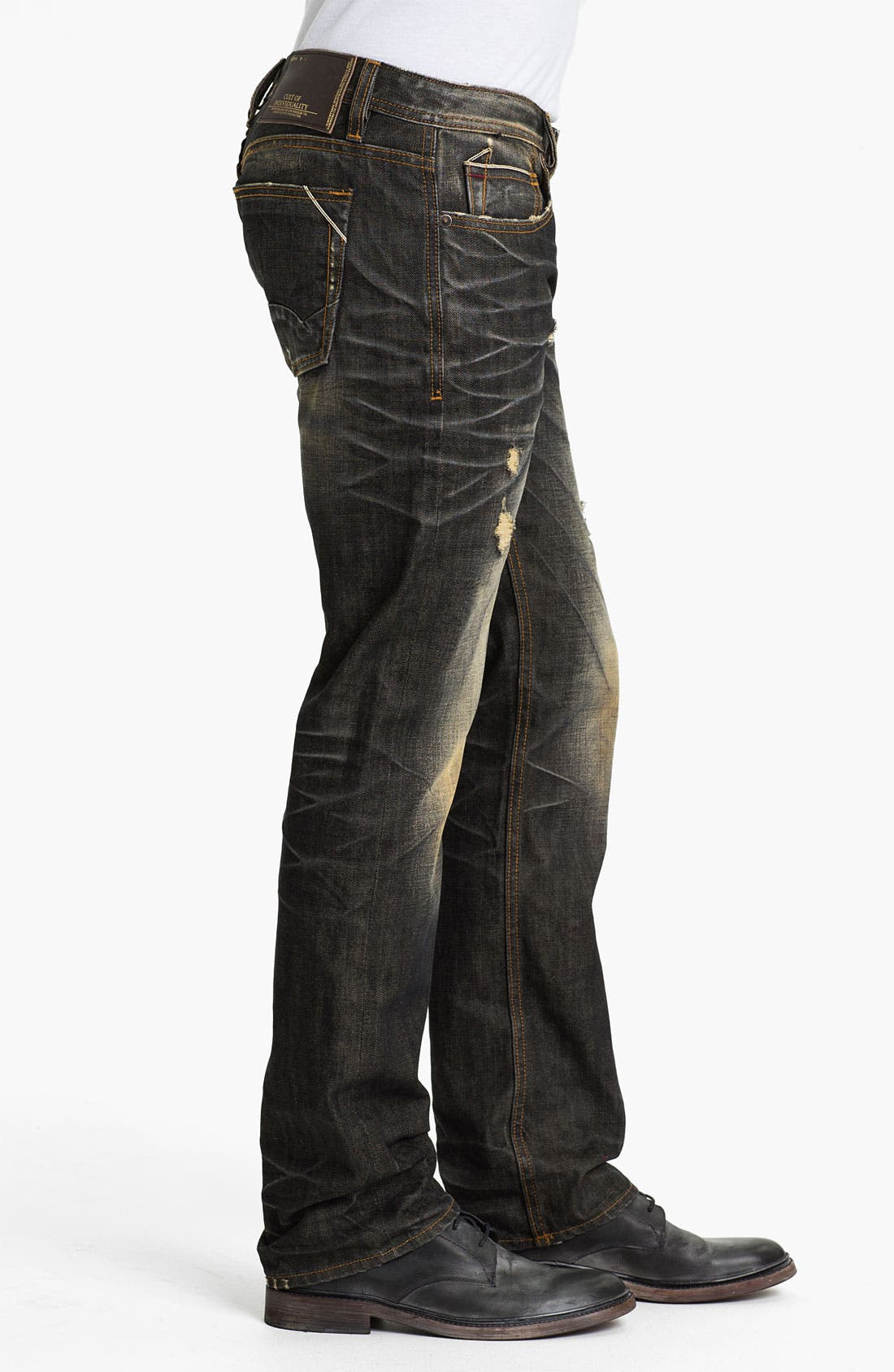 Alternate Image 3  - Cult of Individuality 'Hagen' Straight Leg Jeans (18-Month Brown)