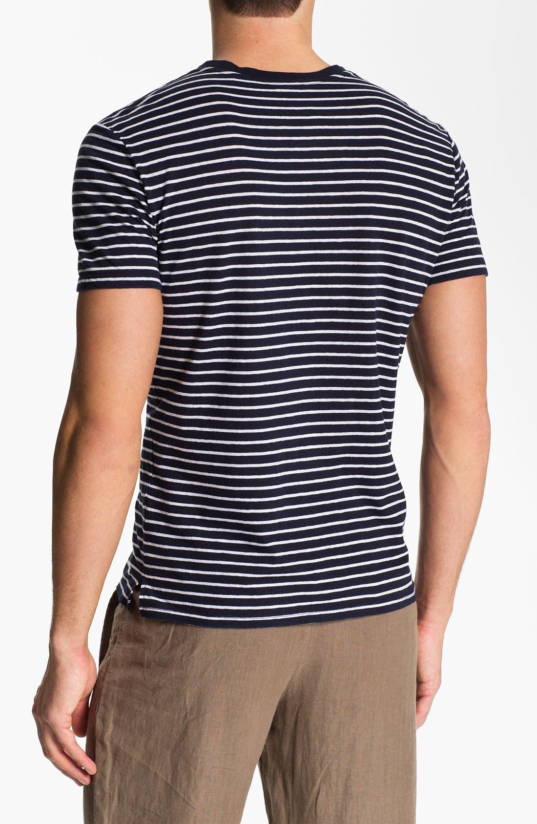 Alternate Image 2  - Vince Stripe Pocket V-Neck T-Shirt