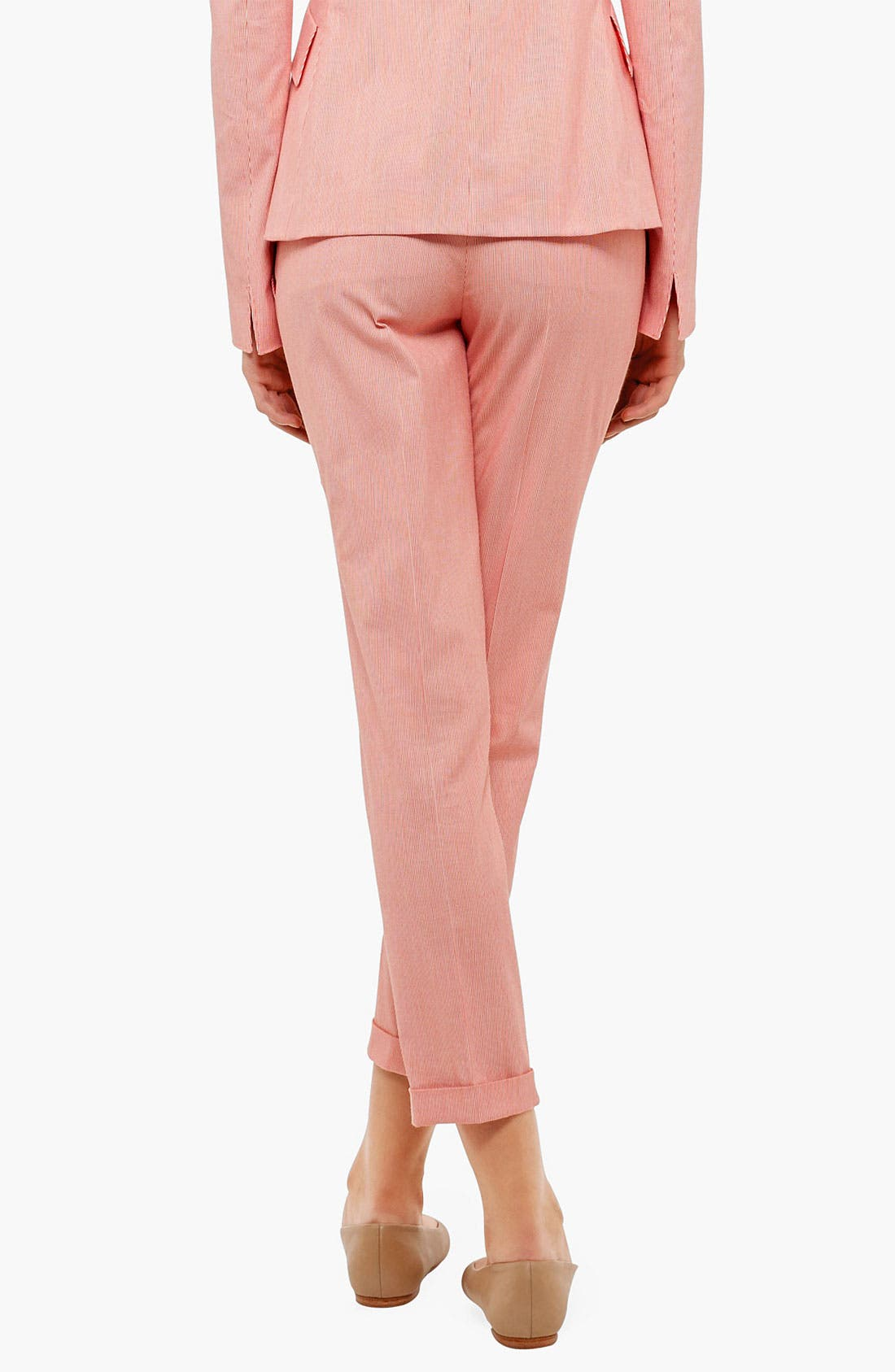 Alternate Image 2  - Akris punto 'Frankie' Microstripe Crop Pants