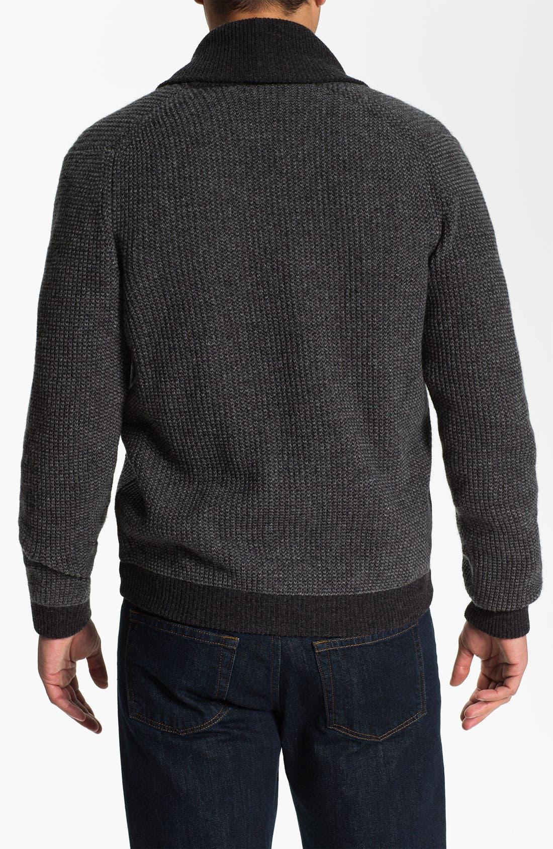 Alternate Image 2  - Lora Gi Shawl Collar Wool Cardigan