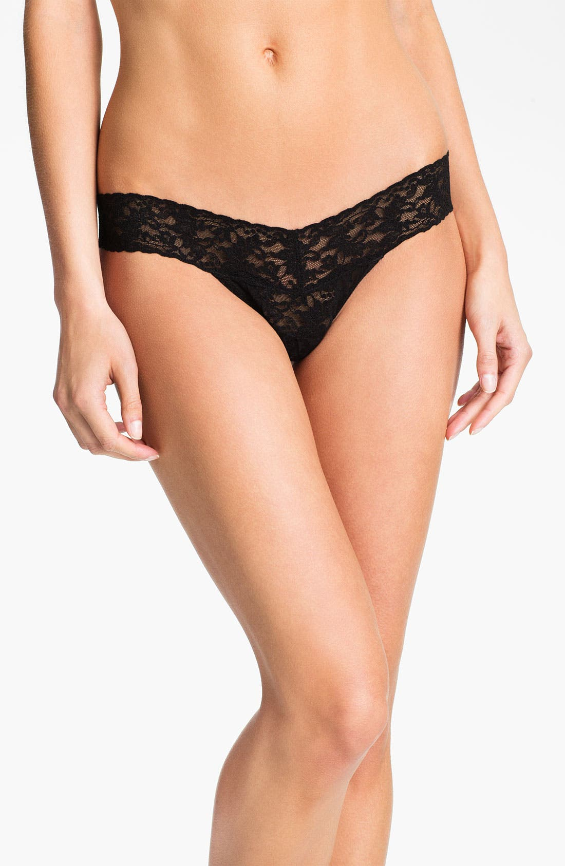 Main Image - Hanky Panky Sequin Ruffle Low Rise Thong