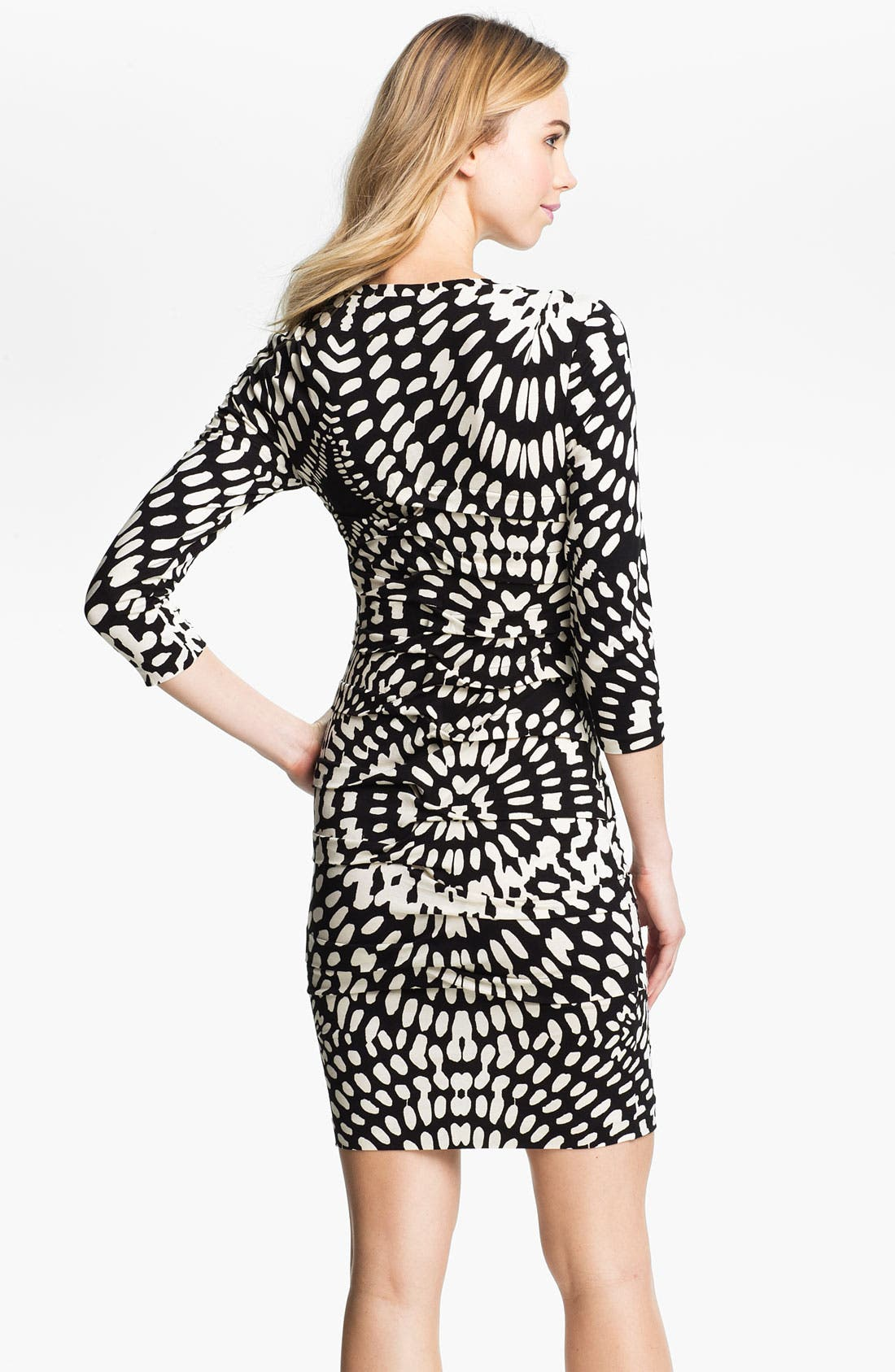 Alternate Image 2  - Nicole Miller Mosaic Print Ruched Jersey Sheath Dress