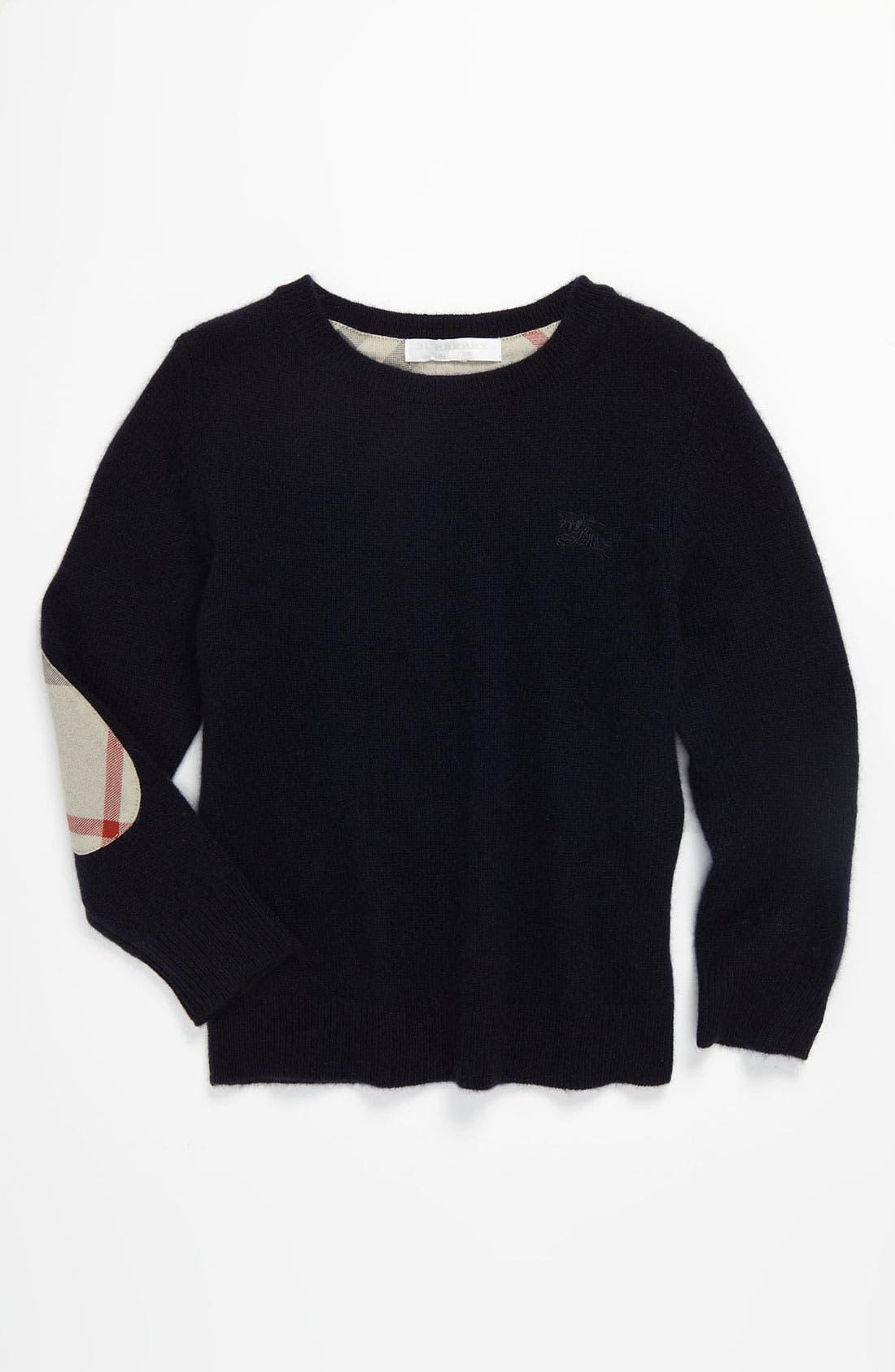 Main Image - Burberry Cashmere Sweater (Little Boys & Big Boys)