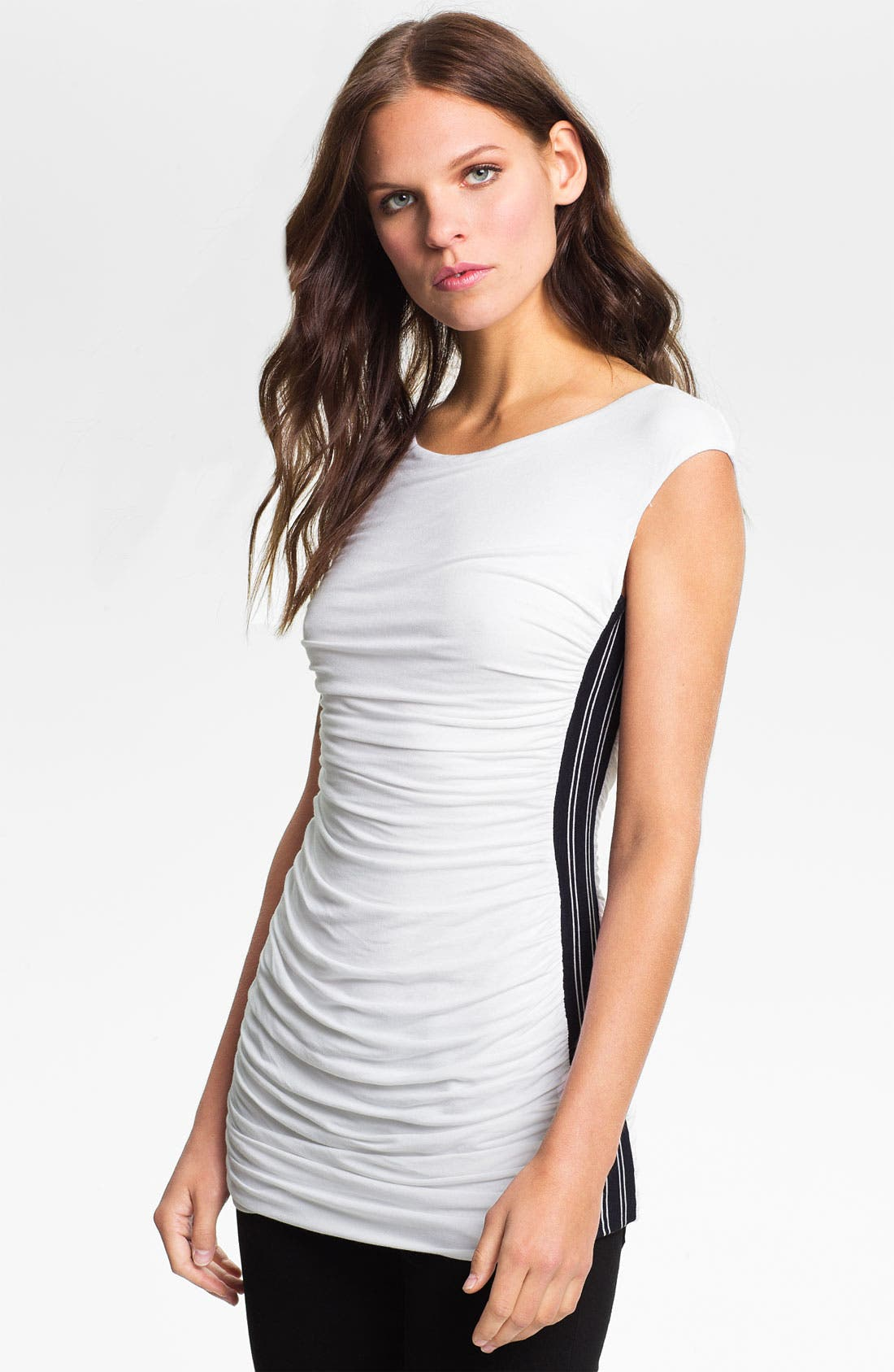 Alternate Image 1 Selected - Bailey 44 'Balance Beam' Racing Stripe Ruched Tank