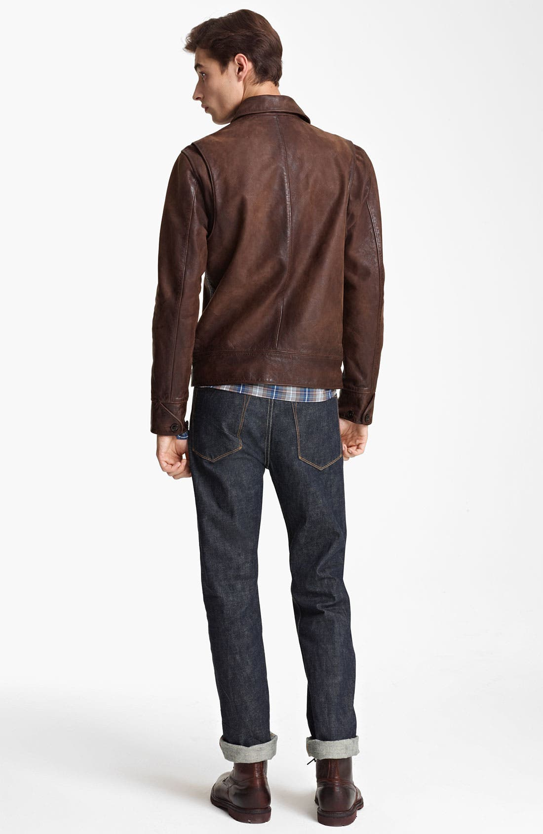 Alternate Image 5  - Todd Snyder 'Dean' Leather Jacket