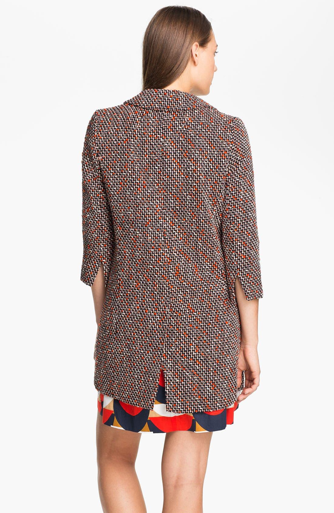 Alternate Image 2  - Milly 'Alegra' Tweed Coat