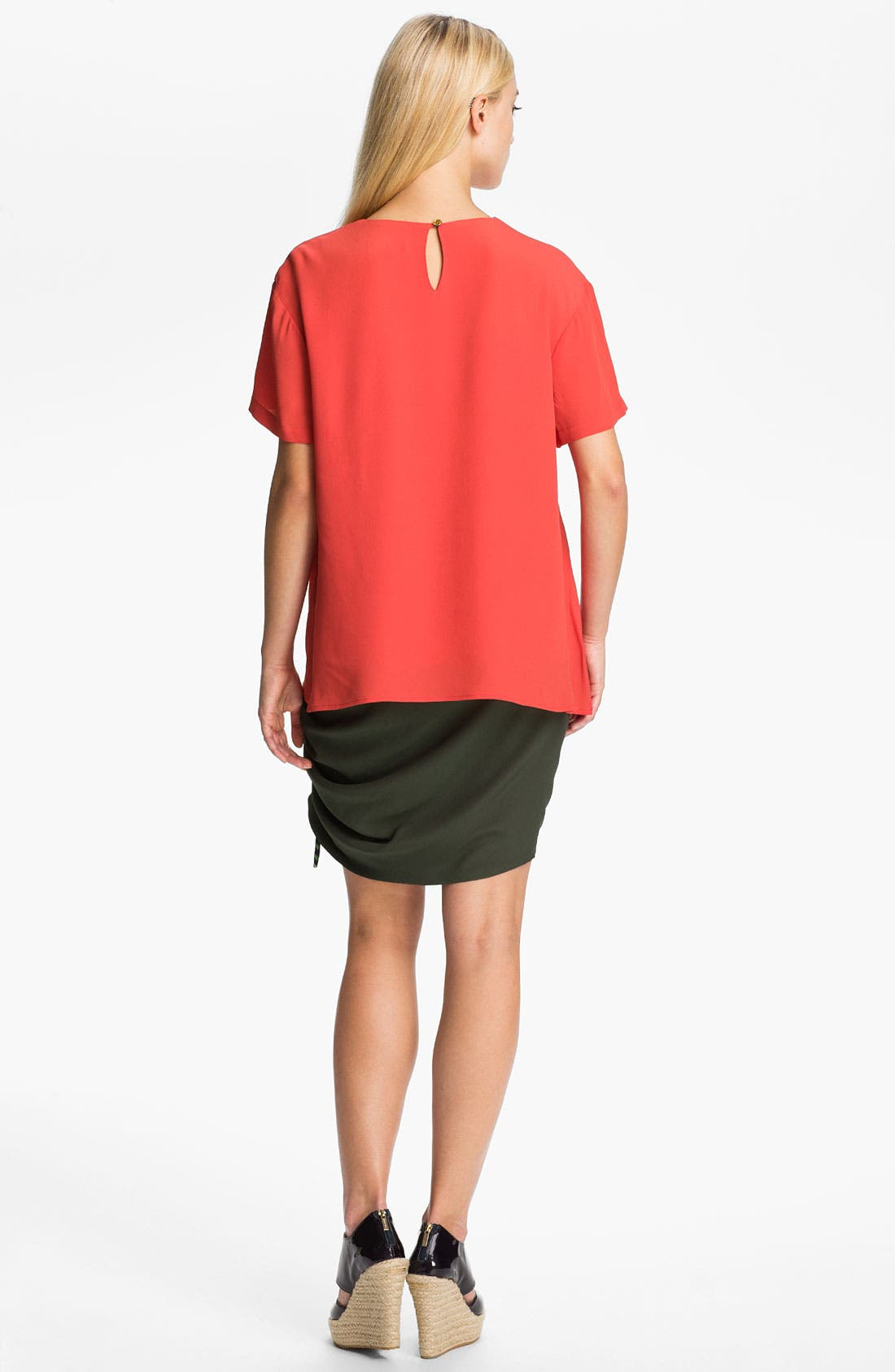 Alternate Image 2  - KENZO Side Ruched Crepe Top