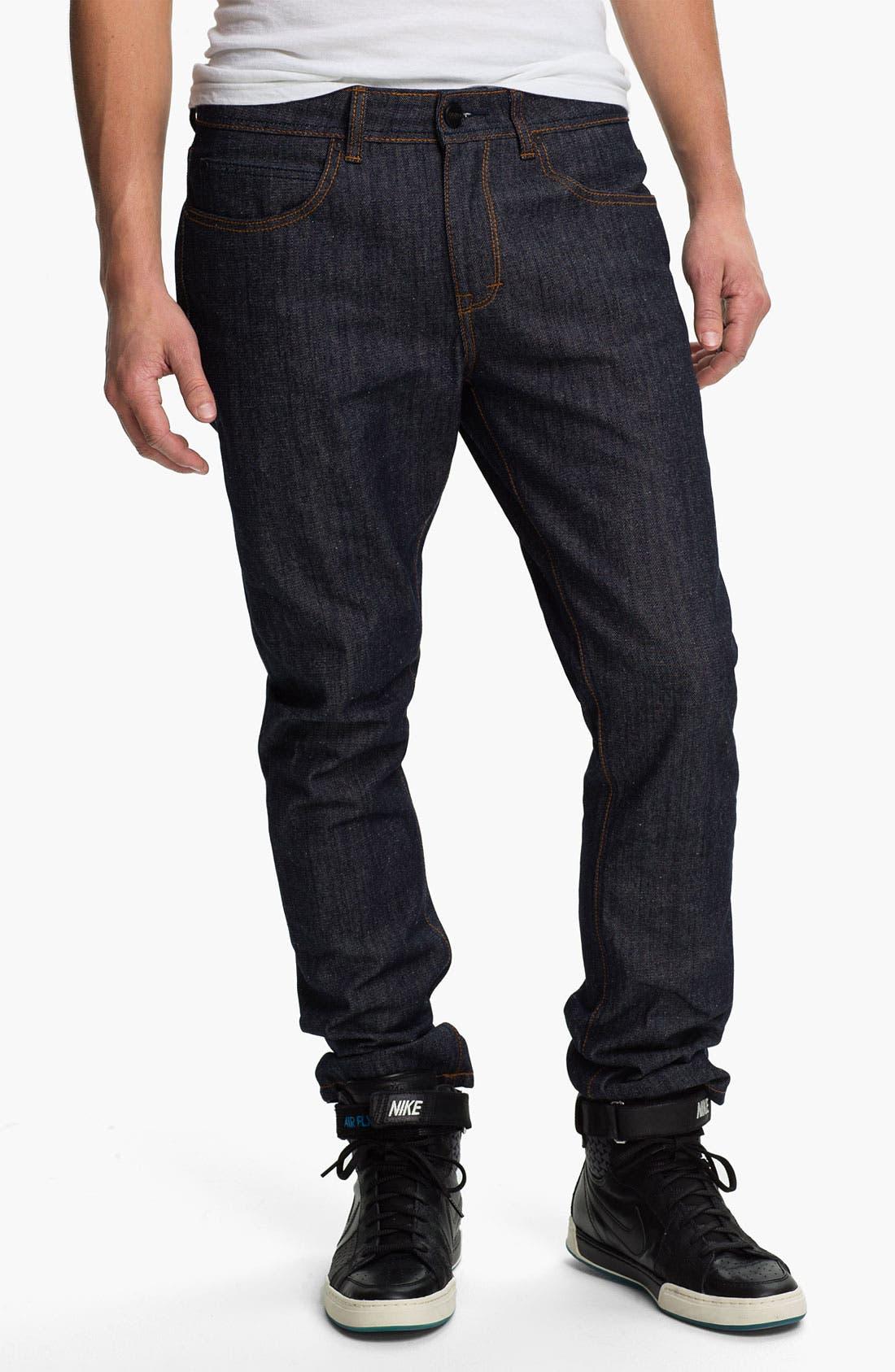 Alternate Image 2  - Ezekiel 'Chopper 305' Slim Straight Leg Jeans (Raw Indigo)