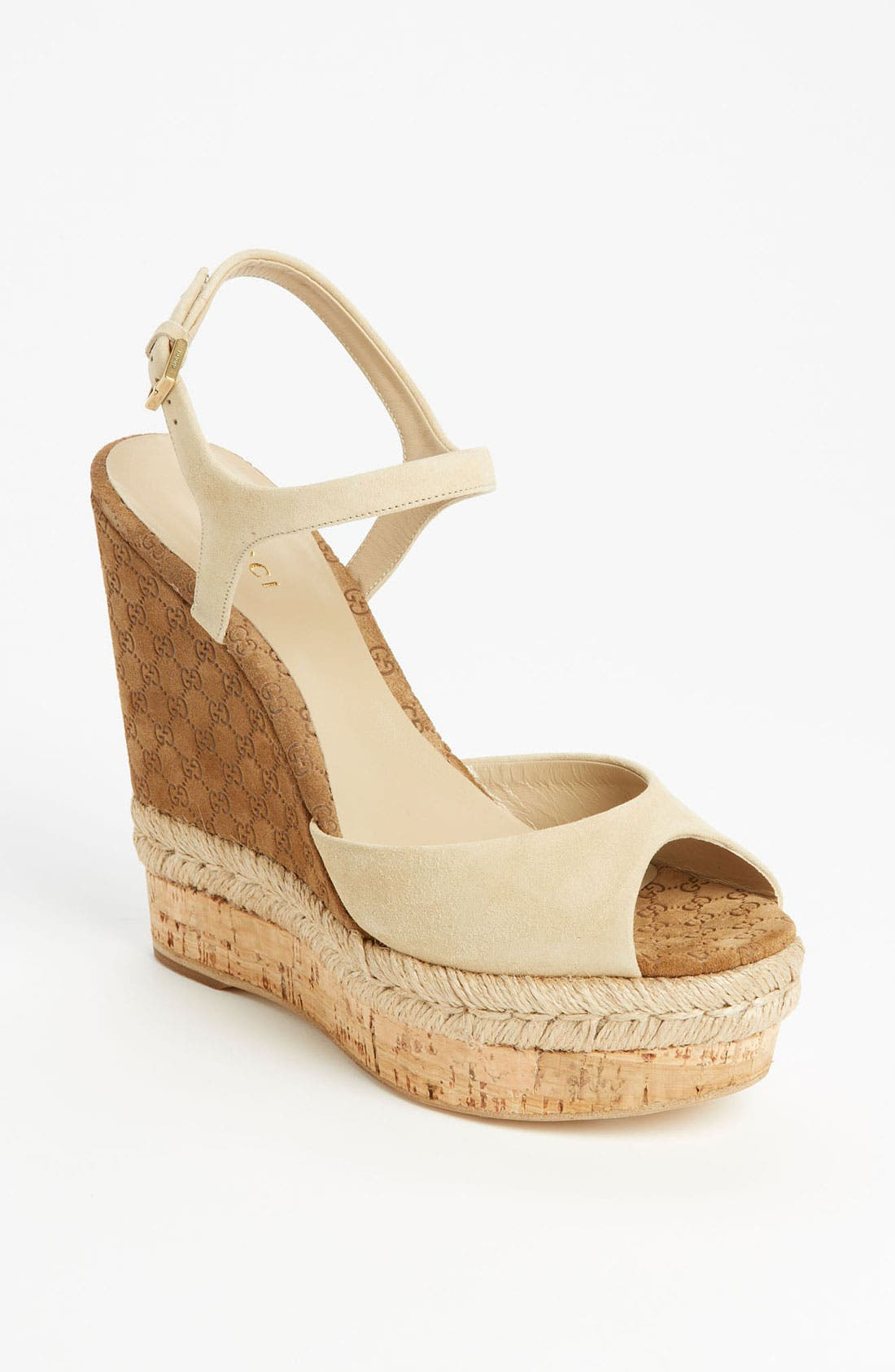 Main Image - Gucci 'Hollie' Wedge Sandal