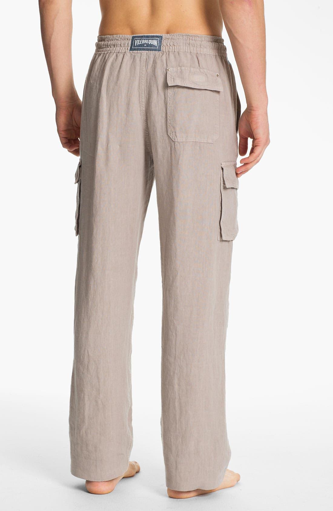 Alternate Image 2  - Vilebrequin 'Ponant' Linen Cargo Pants