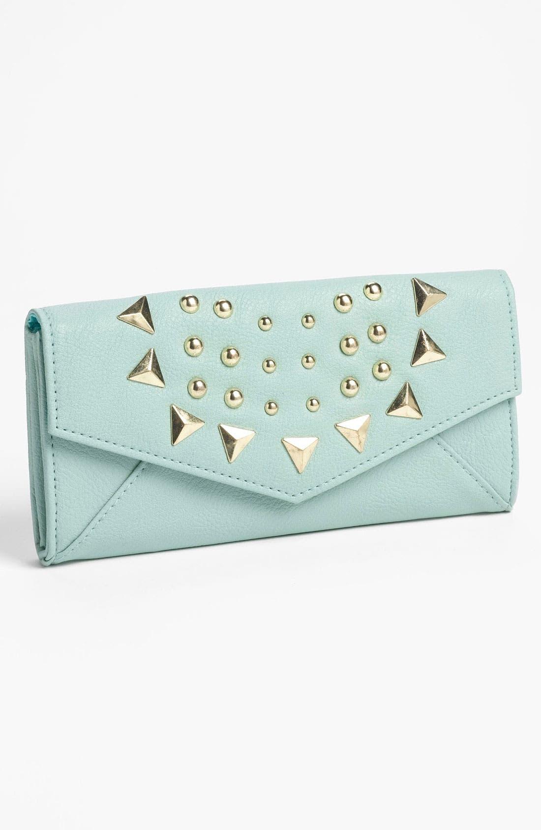 Main Image - Lulu Studded Envelope Wallet