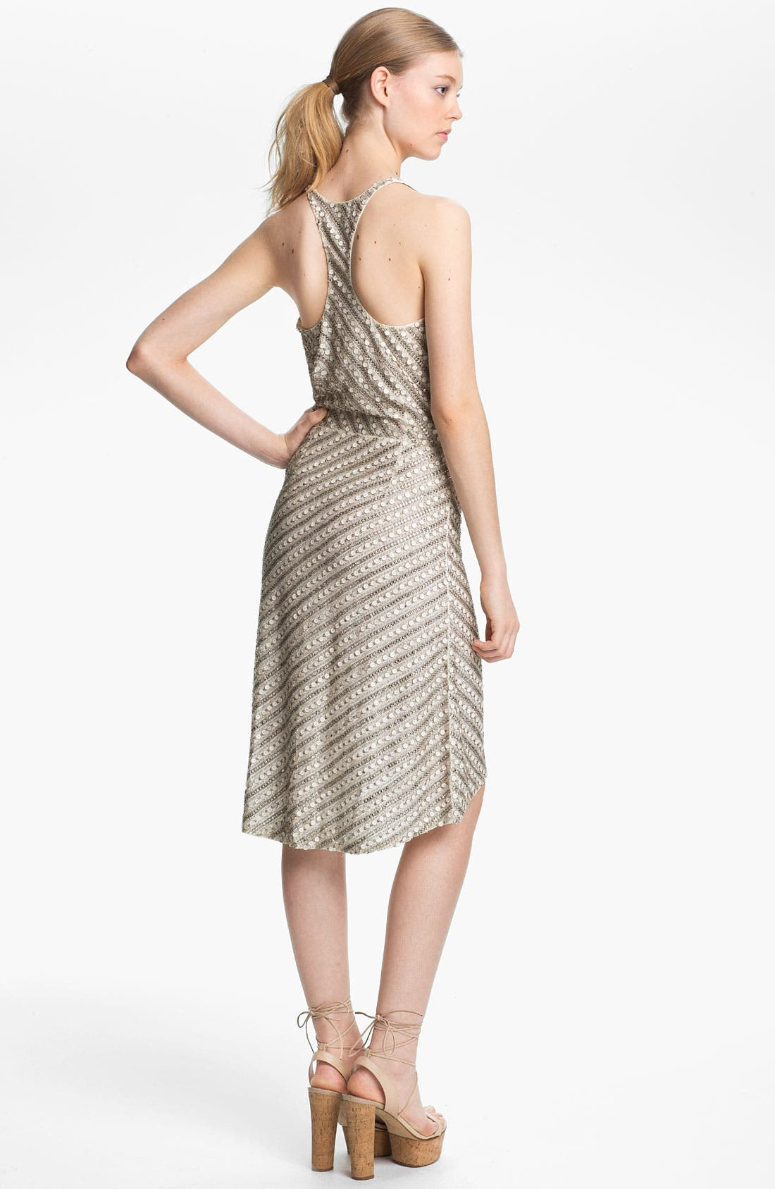 Alternate Image 2  - Tracy Reese Beaded Silk Racerback Slip Dress