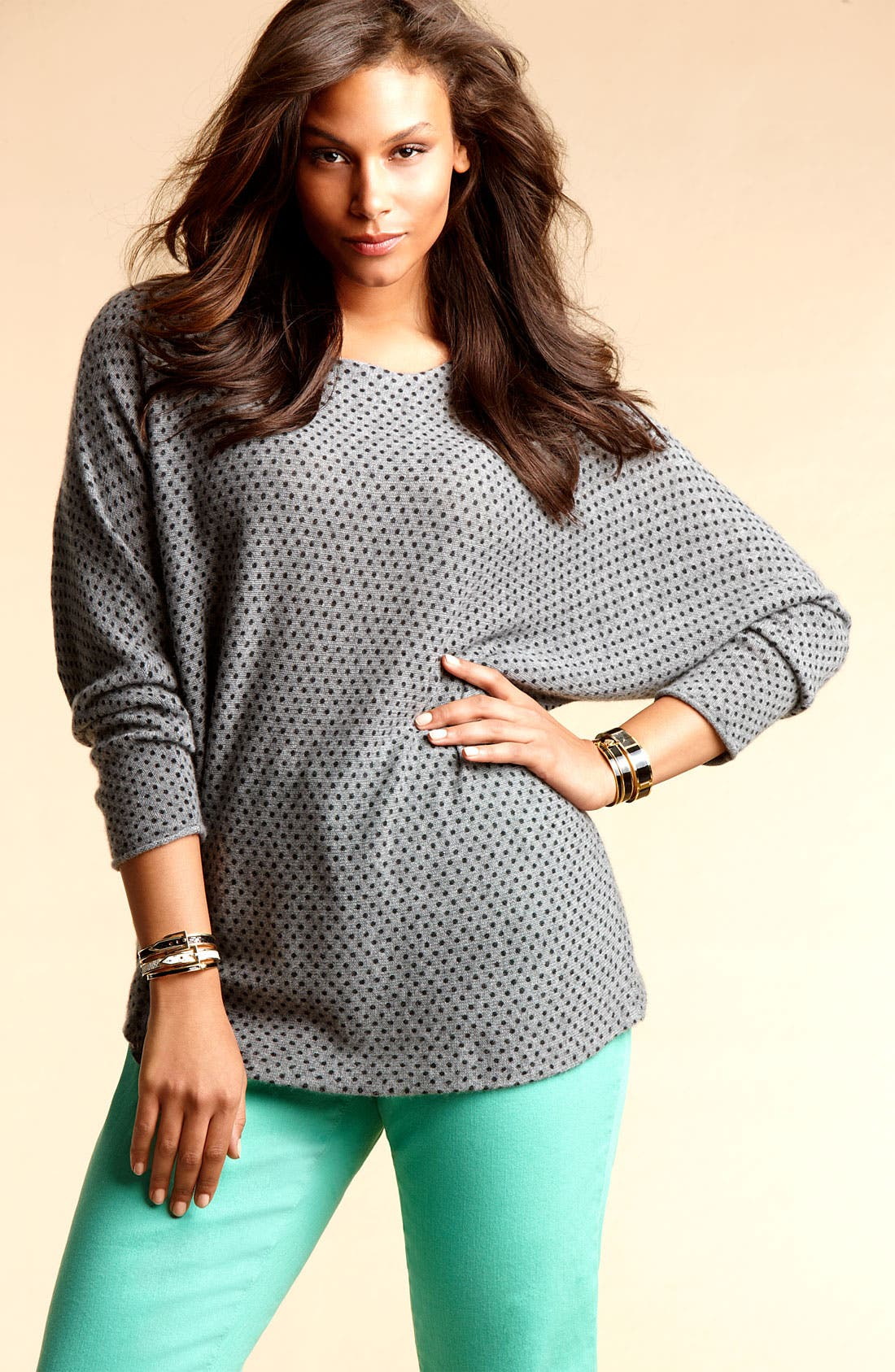 Alternate Image 4  - Only Mine 'Dots' Dolman Cashmere Sweater (Plus)