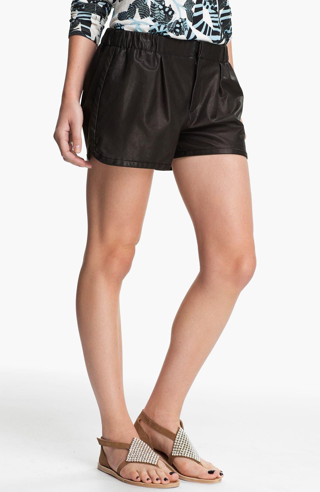 Main Image - Thakoon Addition Leather Shorts
