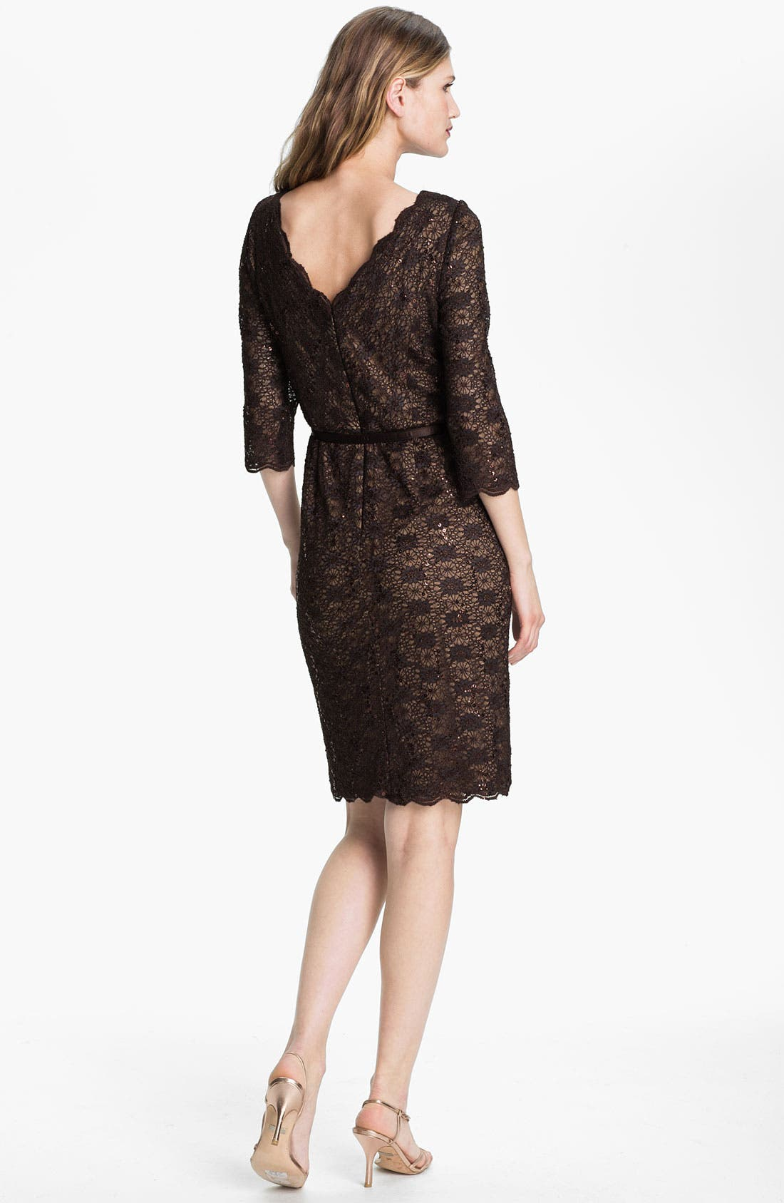 Alternate Image 2  - Alex Evenings Lace Sheath Dress