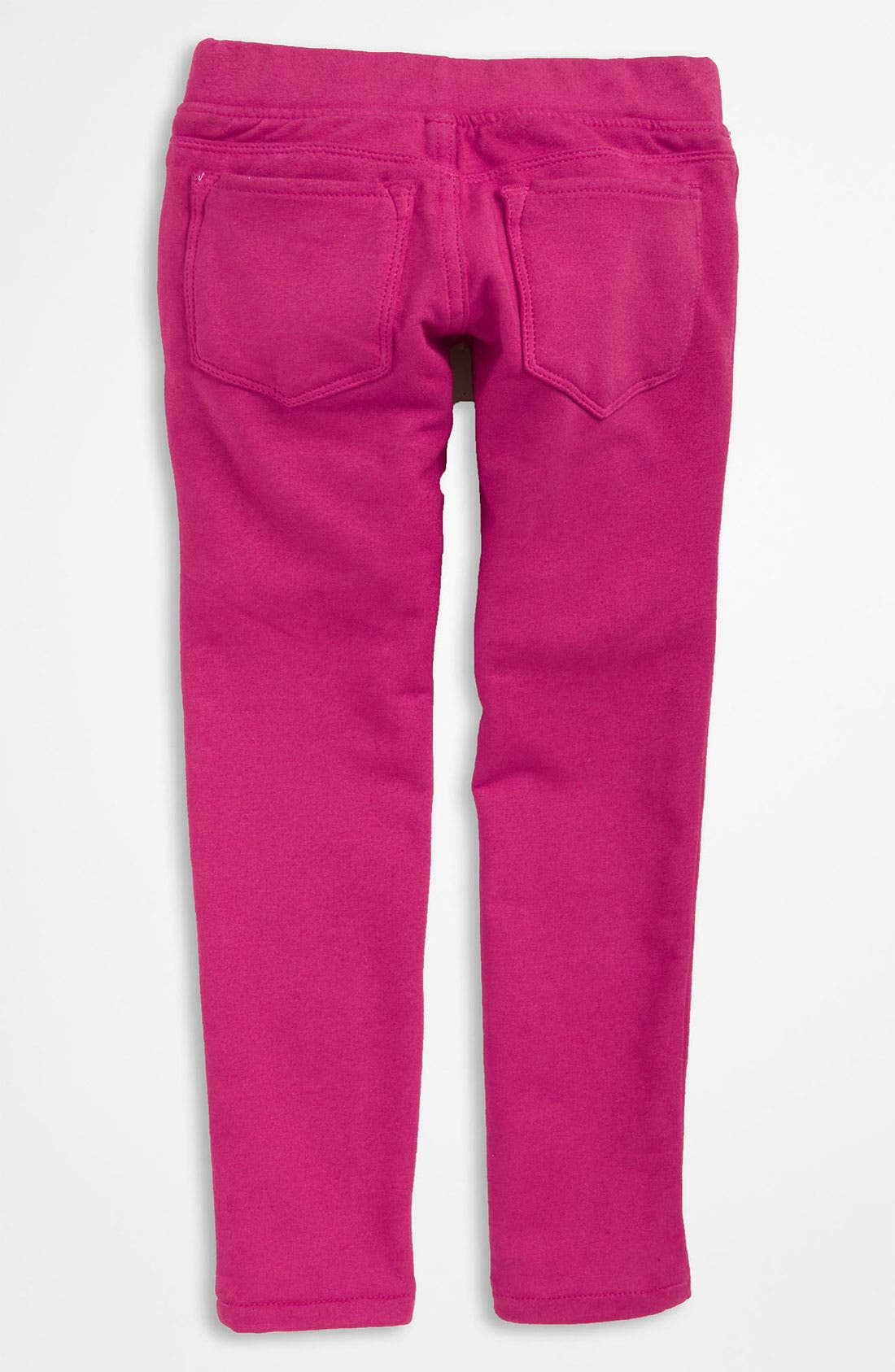 Alternate Image 1 Selected - Tractr French Terry Leggings (Little Girls)