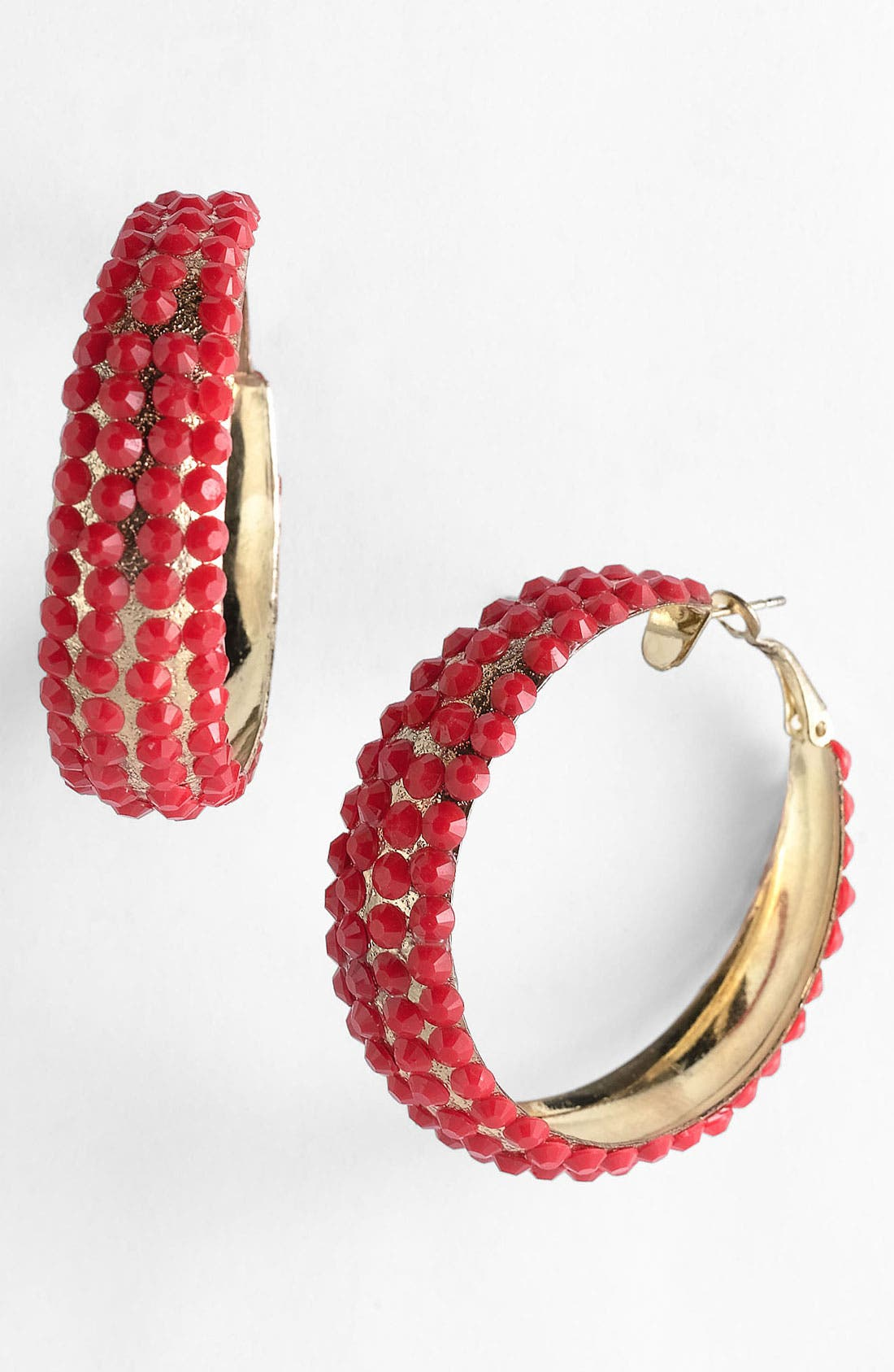 Main Image - Guinevere 'Fitz' Beaded Hoop Earrings