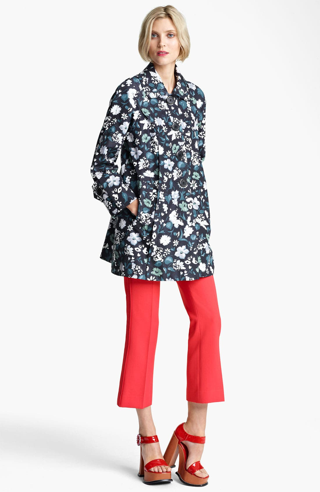 Alternate Image 4  - MARC JACOBS Flower & Butterfly Print Coat