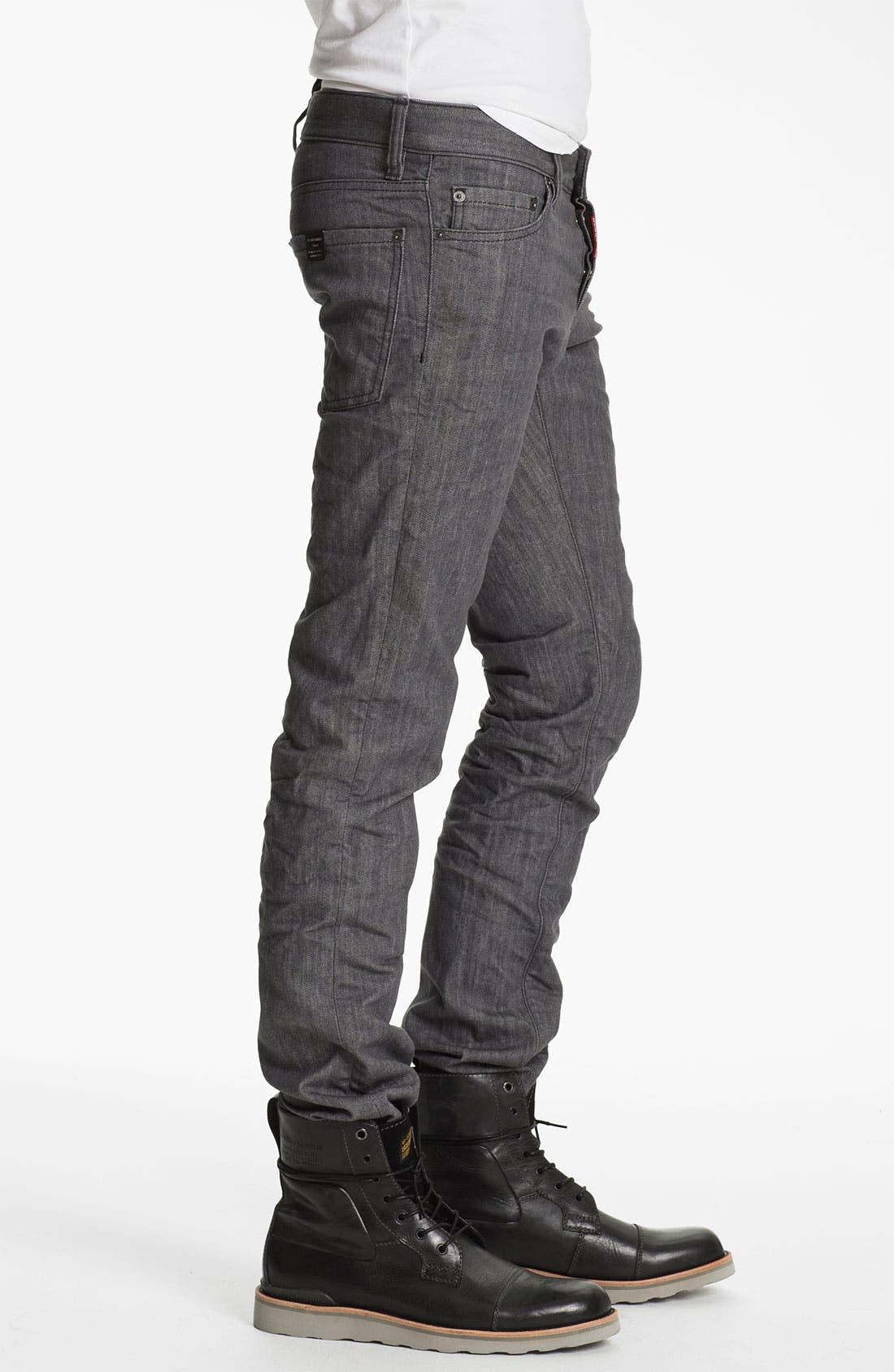 Alternate Image 3  - Dsquared2 Stretch Slim Fit Jeans (Grey)