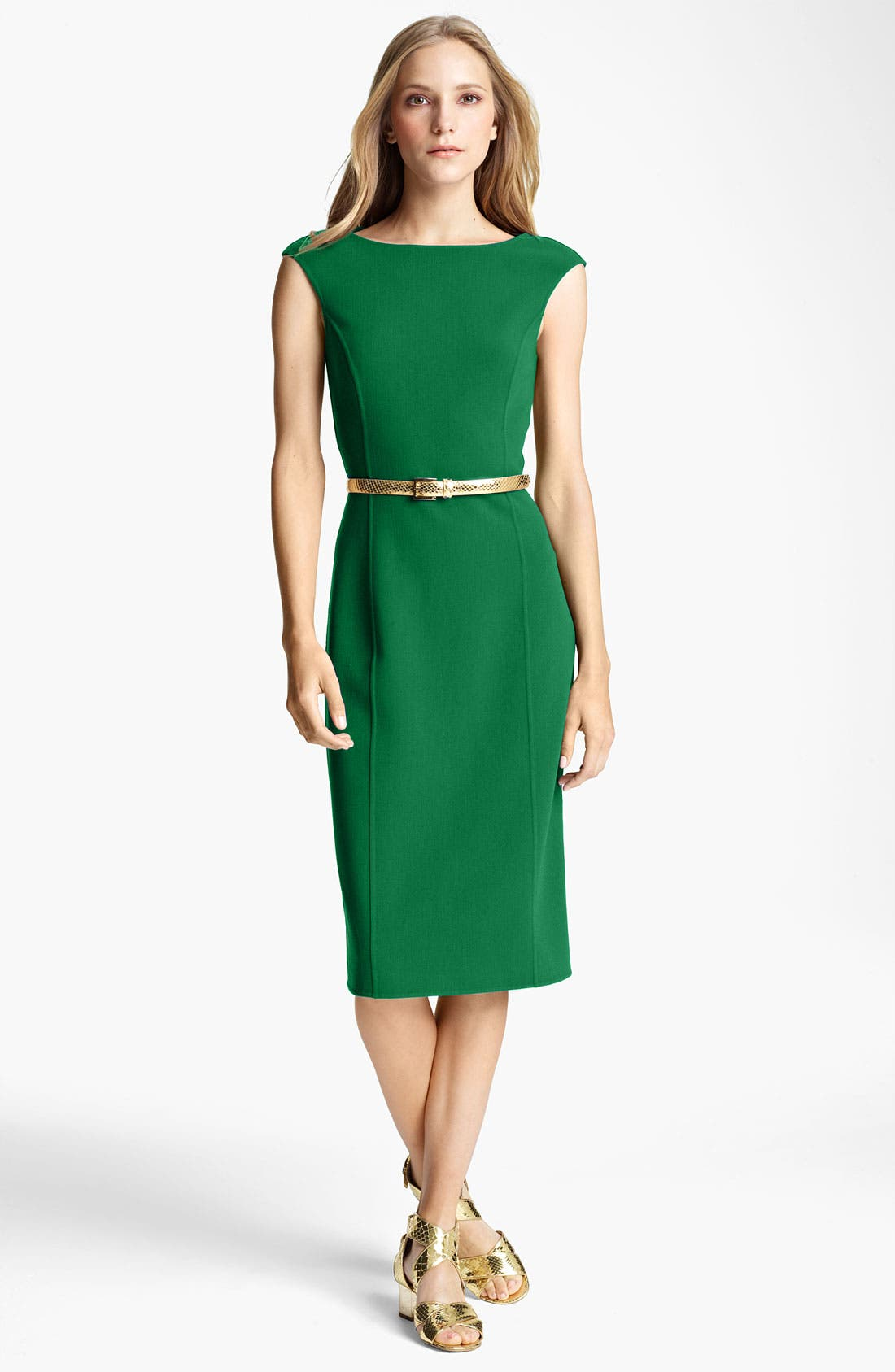 Alternate Image 1 Selected - Michael Kors Double Face Stretch Wool Sheath