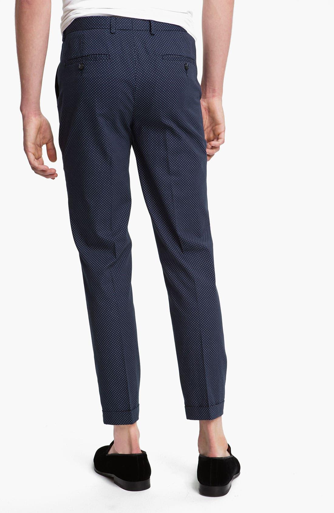 Alternate Image 2  - Topman Pin Dot Skinny Fit Trousers