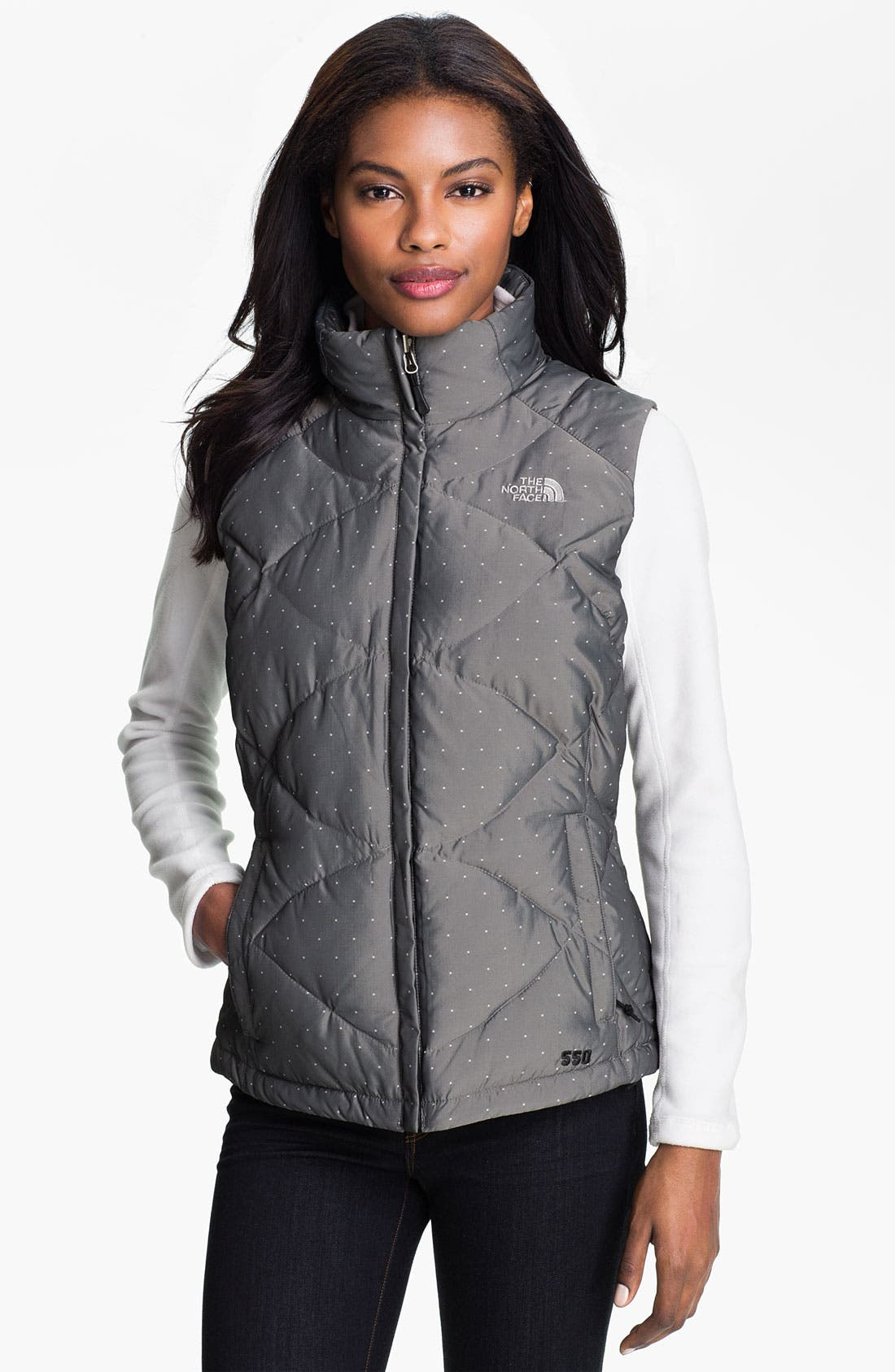 Alternate Image 1 Selected - The North Face 'Aconcagua' Dot Pattern Down Vest