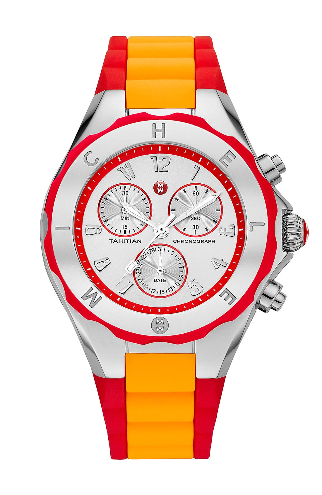 Alternate Image 1 Selected - MICHELE 'Tahitian Jelly Bean' Colorblock Watch, 40mm