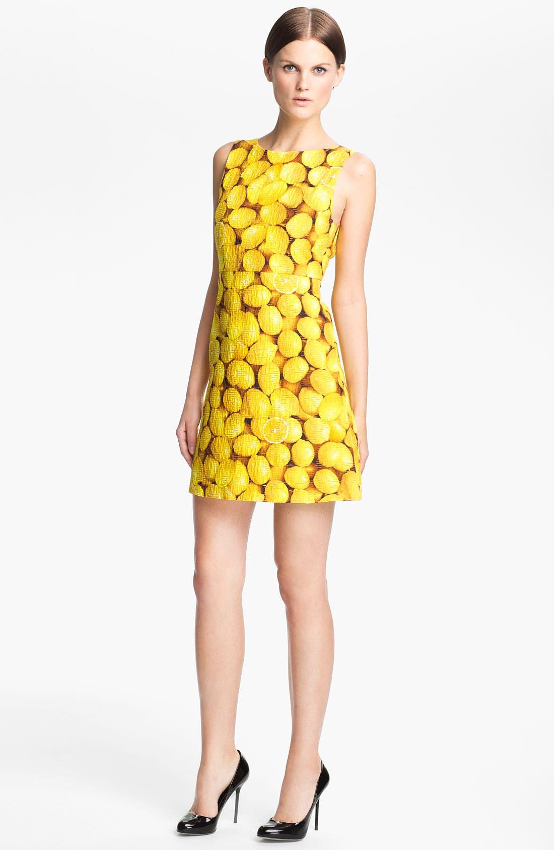 Main Image - Alice + Olivia 'Candice' Print A-Line Dress