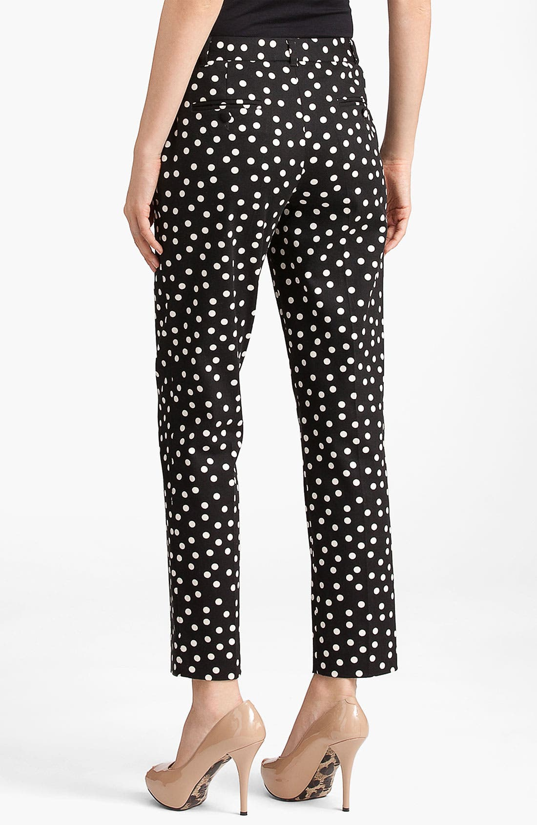 Alternate Image 2  - Dolce&Gabbana Polka Dot Skinny Crop Pants